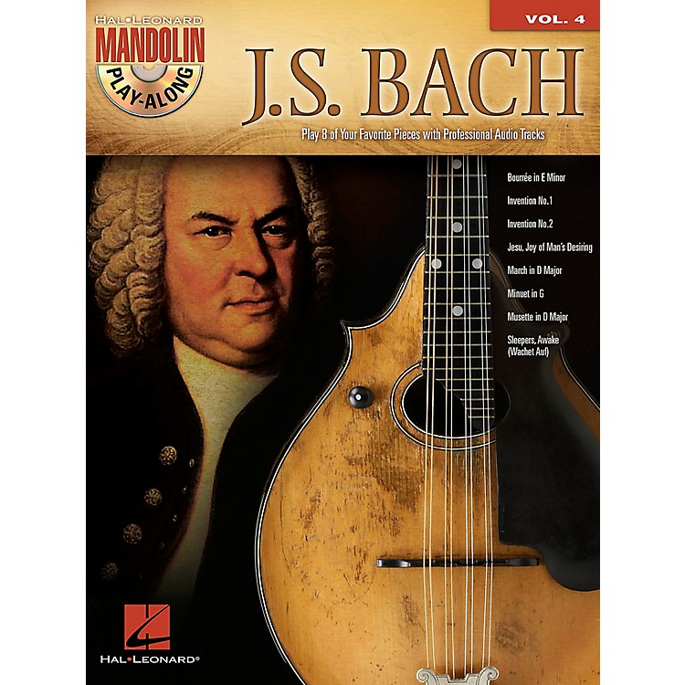 Hal Leonard J.S. Bach - Mandolin Play-Along Vol. 4 Book/CD