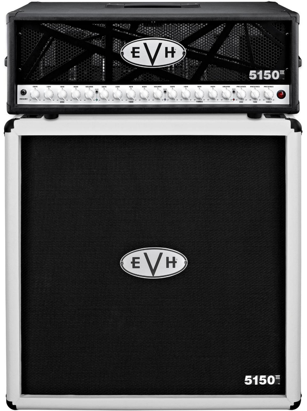evh 5150 iii 100w guitar tube head black with 5150 iii 412 guitar cab ivory ebay. Black Bedroom Furniture Sets. Home Design Ideas