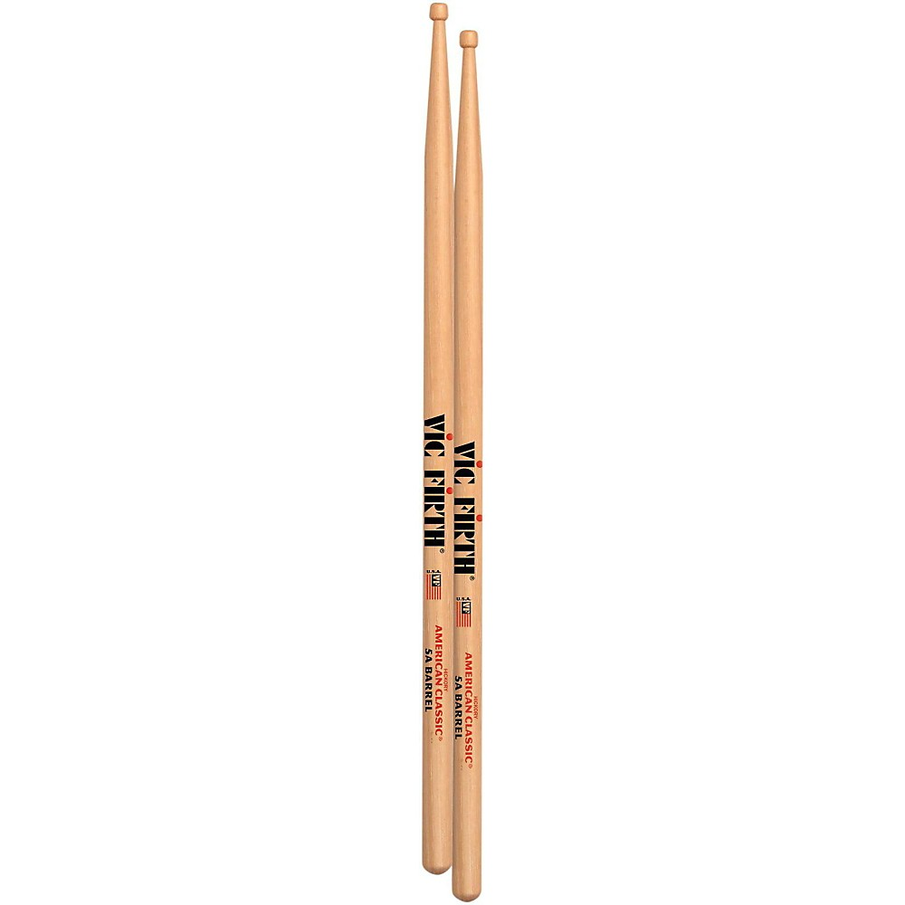 5ABRL Barrel Tip Vic Firth American Classic Drum Stick 5A