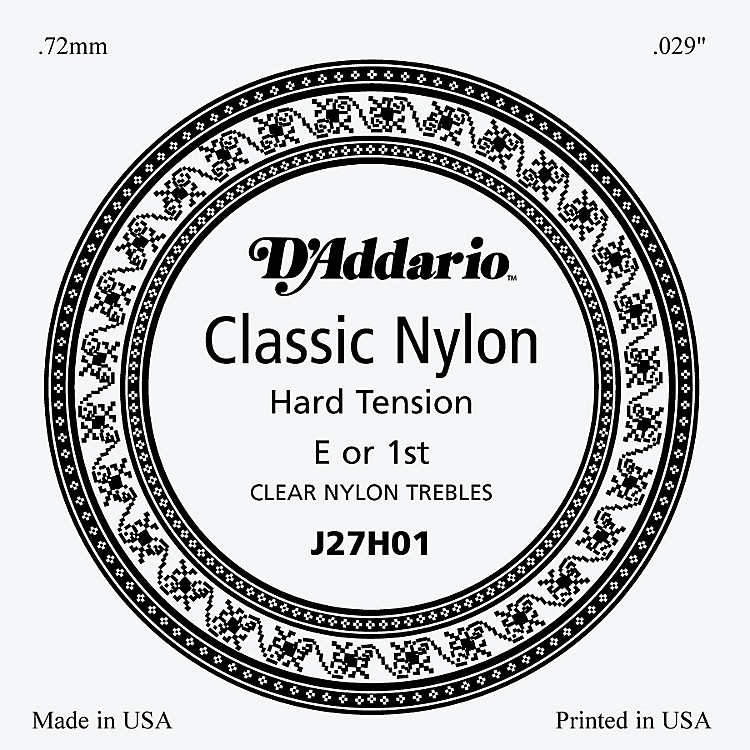 D'Addario J27H01 Clear Nylon Classical Guitar 1st String