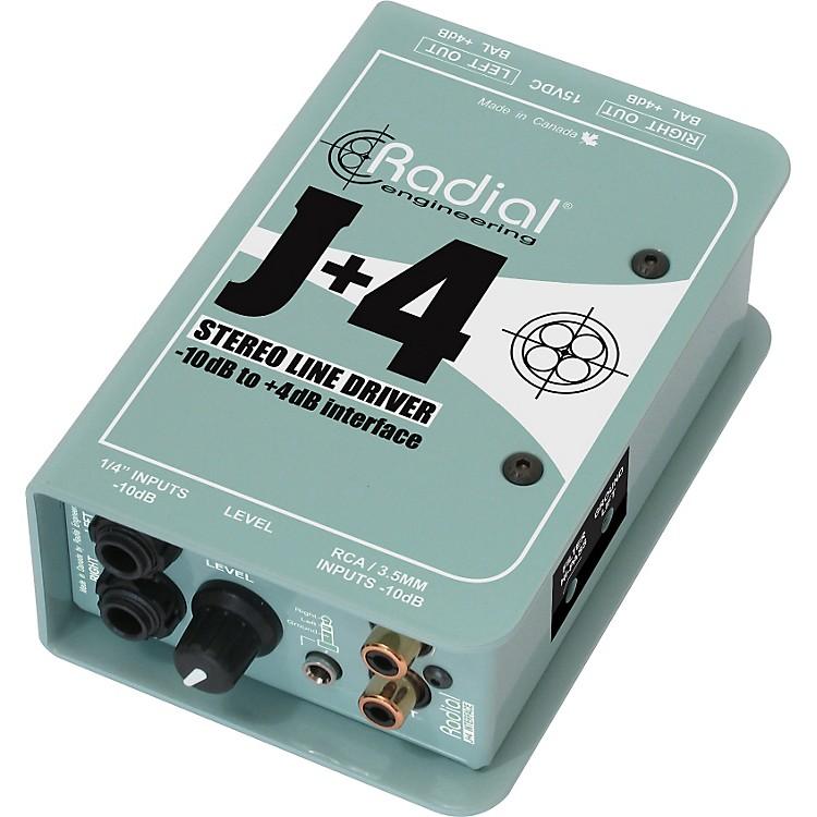 Radial EngineeringJ+4 Stereo Line Driver -10dB to +4dB Interface