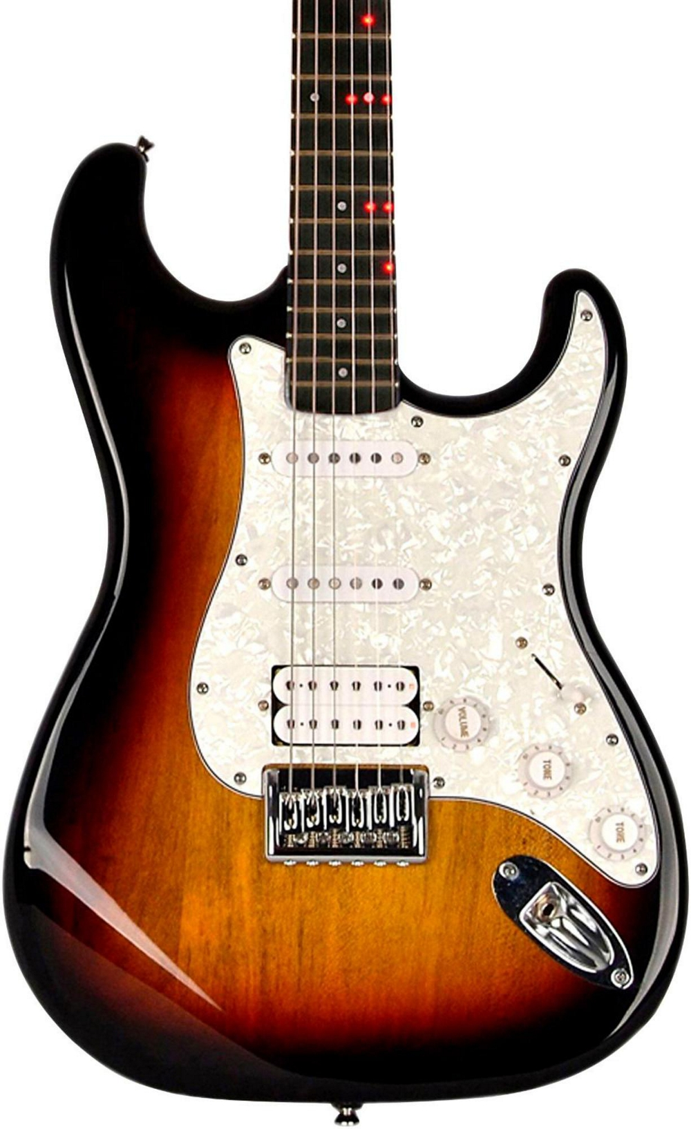 fretlight fg 621 wireless electric guitar 3 color sunburst ebay. Black Bedroom Furniture Sets. Home Design Ideas