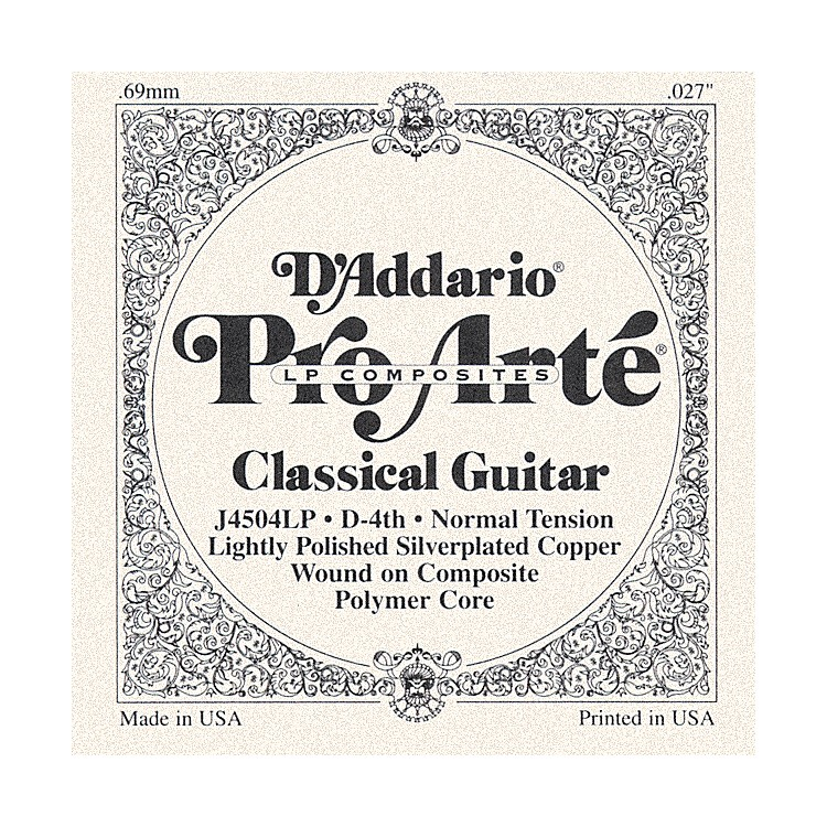 D'AddarioJ45 D-4 Pro-Arte Composites Normal LP Single Classical Guitar String