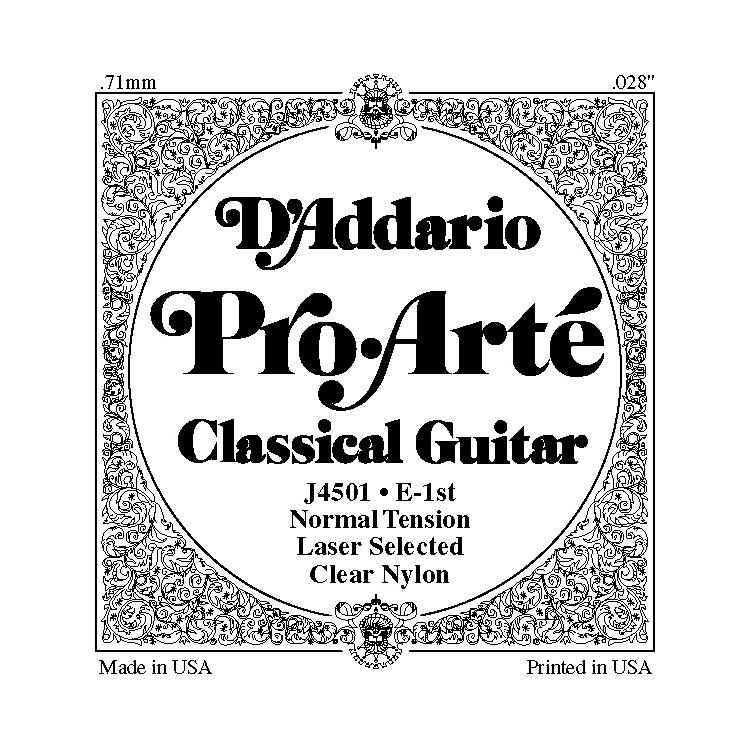 D'AddarioJ45 E-1 Pro-Arte Clear Normal Single Classical Guitar String