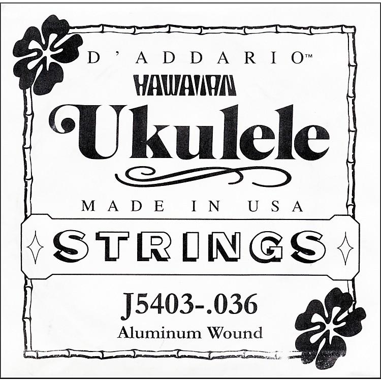D'AddarioJ5403 Aluminum Wound Single Ukulele String