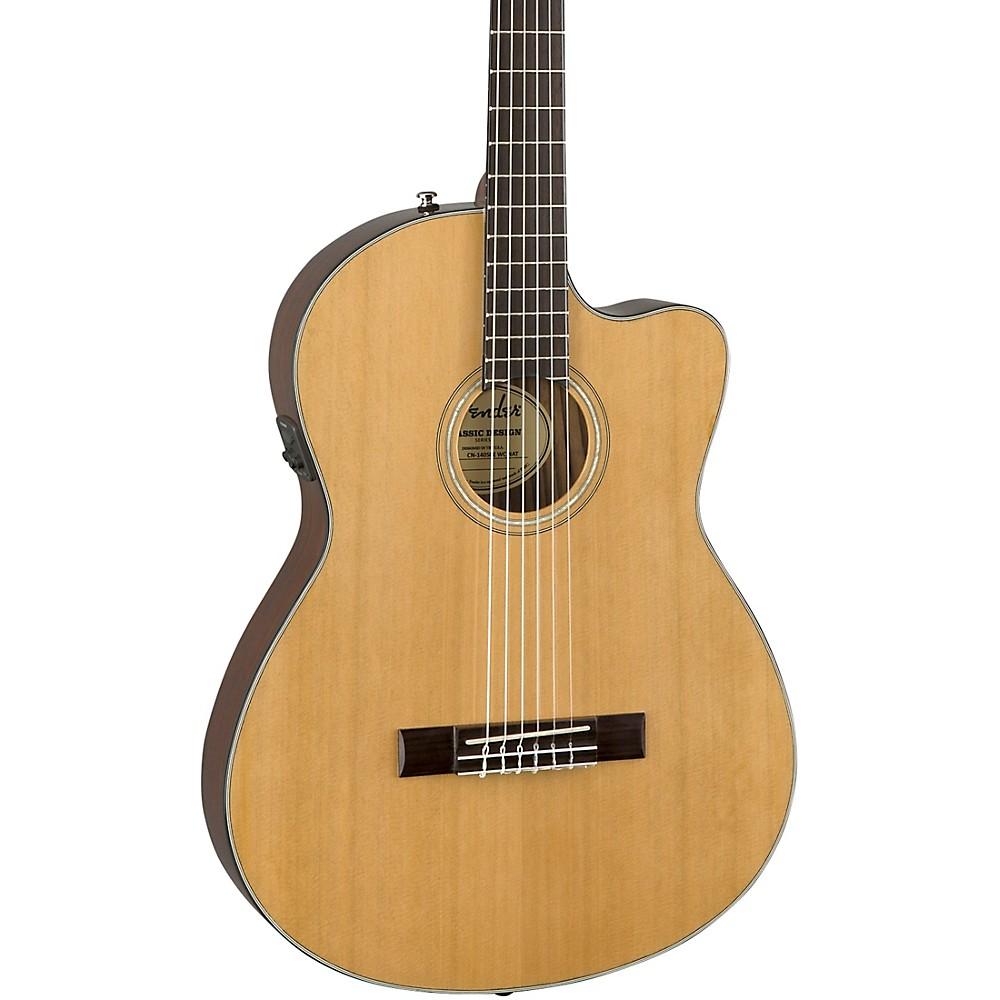 fender cn 140sce with case nylon string acoustic electric guitar 190839186928 ob ebay. Black Bedroom Furniture Sets. Home Design Ideas