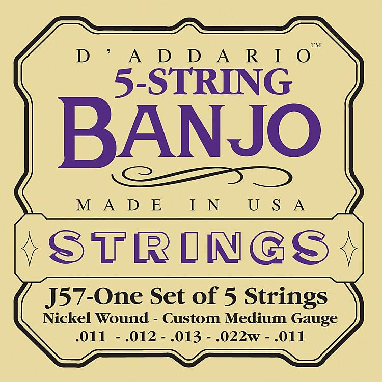D'AddarioJ57 5-String Banjo Strings