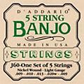 D'AddarioJ60 5-String Banjo Strings-thumbnail