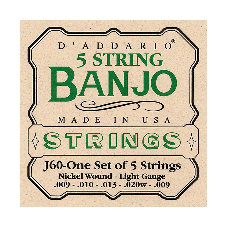 D'AddarioJ60 5-String Banjo Strings