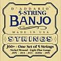 D'AddarioJ60+ Nickel Light-Plus Banjo Strings-thumbnail