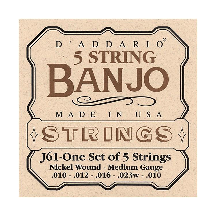 D'AddarioJ61 5-String Banjo Strings