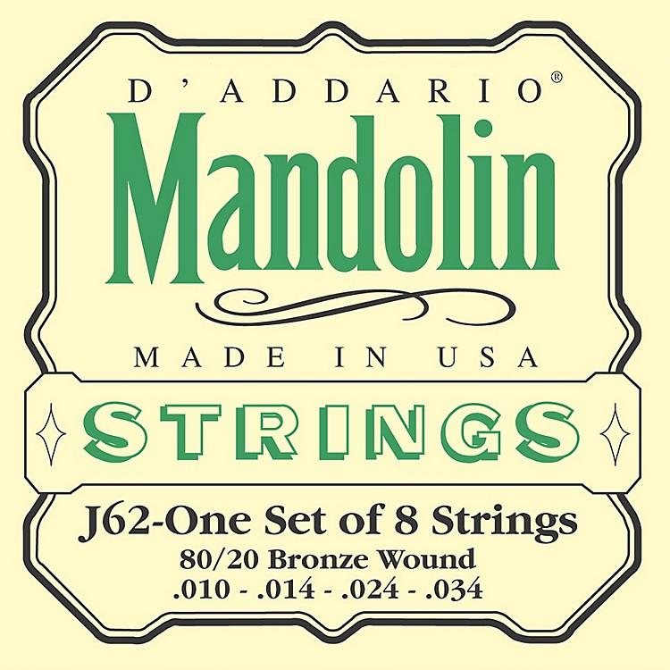 D'AddarioJ62 80/20 Phosphor Bronze Mandolin Strings
