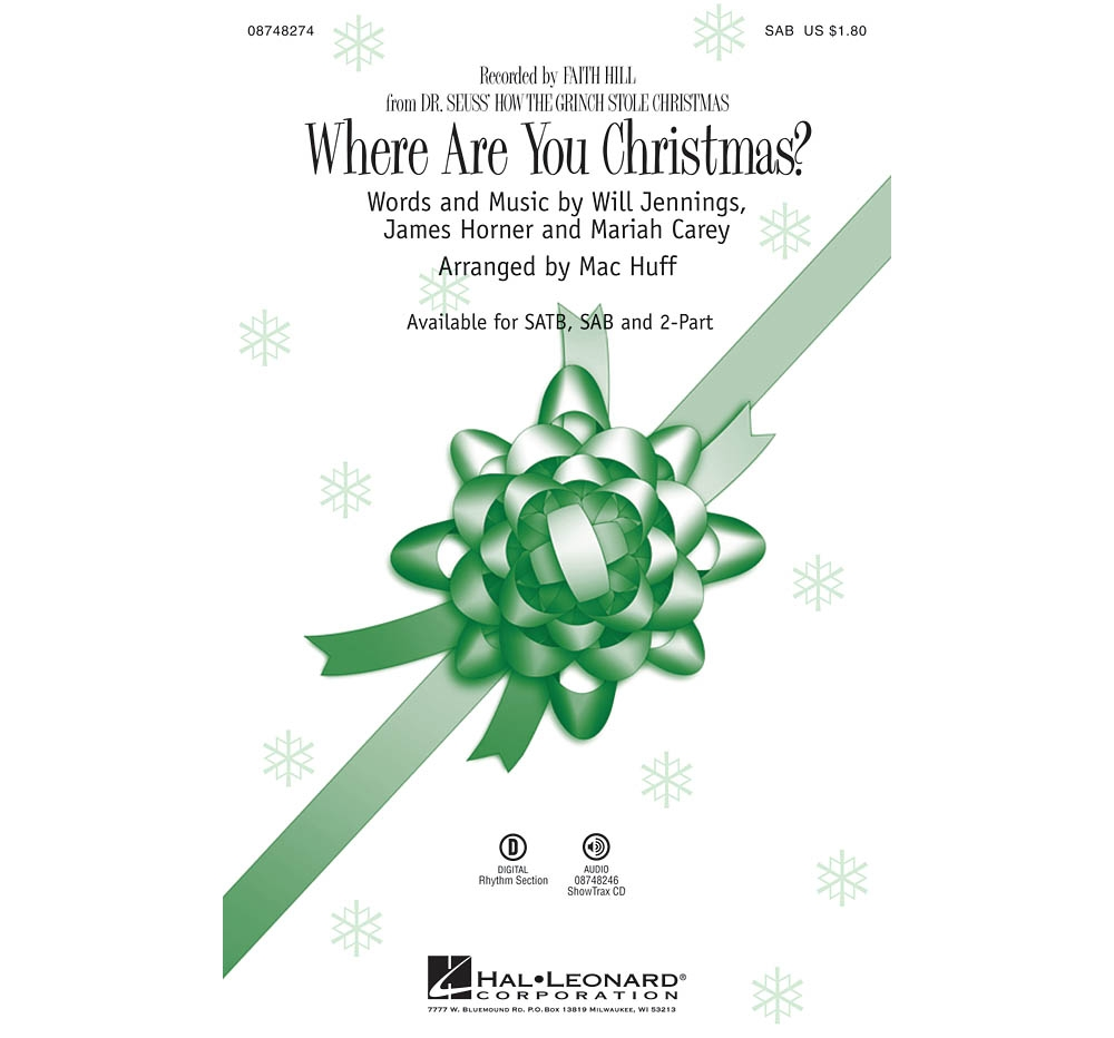 Where Are You Christmas.Details About Where Are You Christmas From How The Grinch Stole Christmas Sab By Faith Hill