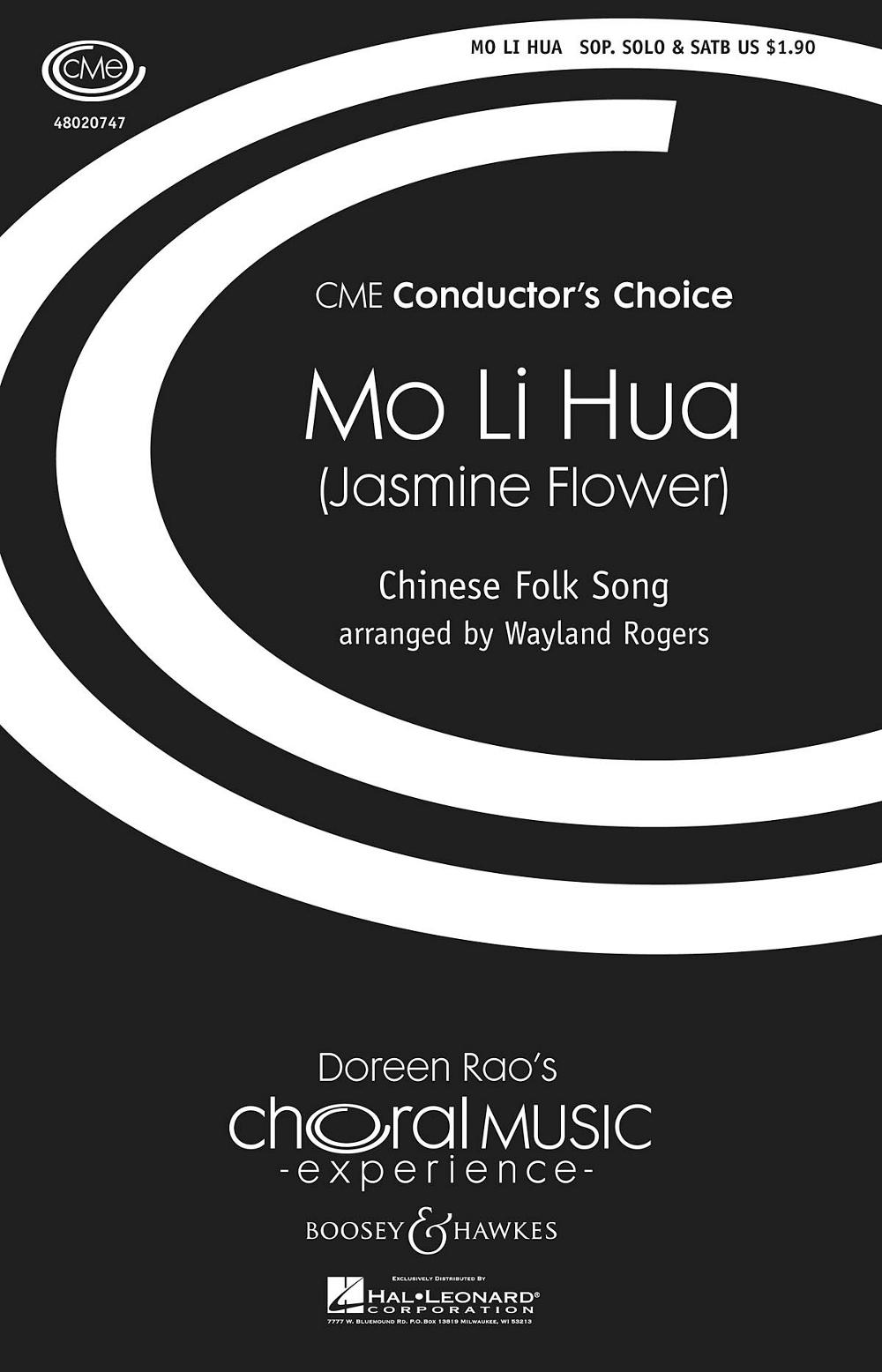 Mo Li Hua Jasmine Flower Chinese Folk Song Satb Arranged By