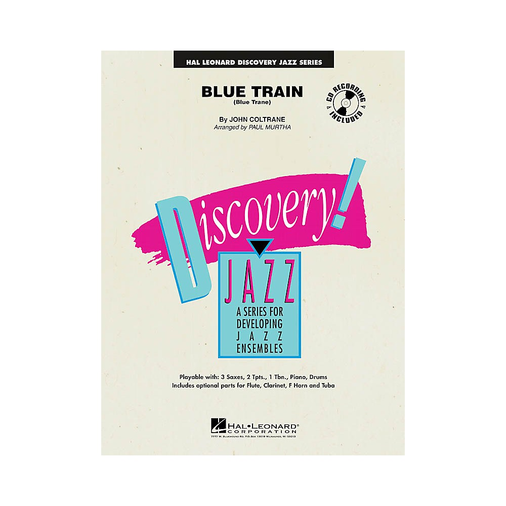 Details about Hal Leonard Blue Train (Blue Trane) Jazz Band Level 1-2  Arranged by Paul Murtha