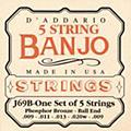 D'AddarioJ69B 5-String Banjo PB Light Ball Strings-thumbnail