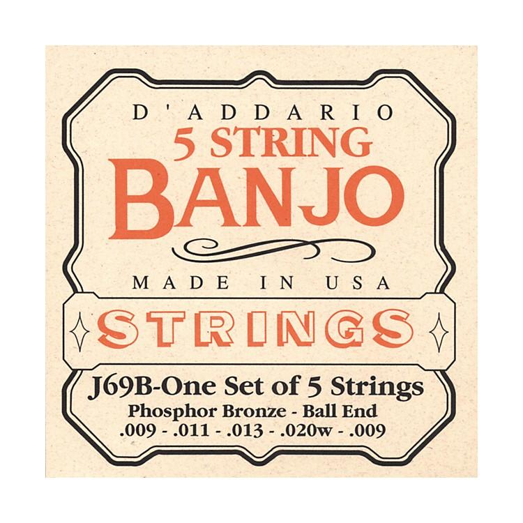 D'AddarioJ69B 5-String Banjo PB Light Ball Strings