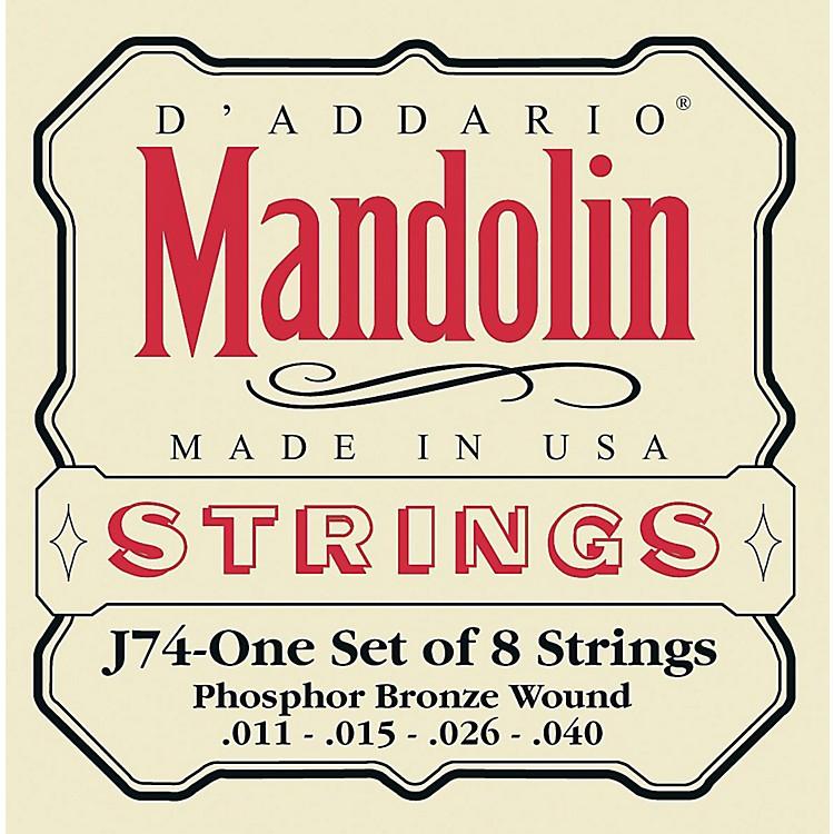 D'AddarioJ74 Phosphor Bronze Medium Mandolin Strings