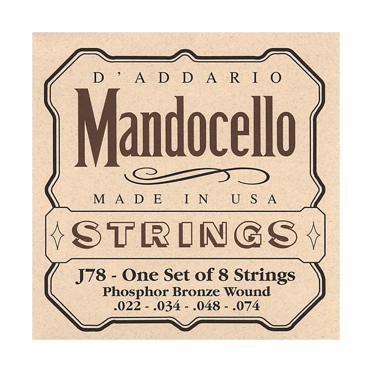 D'AddarioJ78 Phosphor Bronze Wound Mandocello String Set