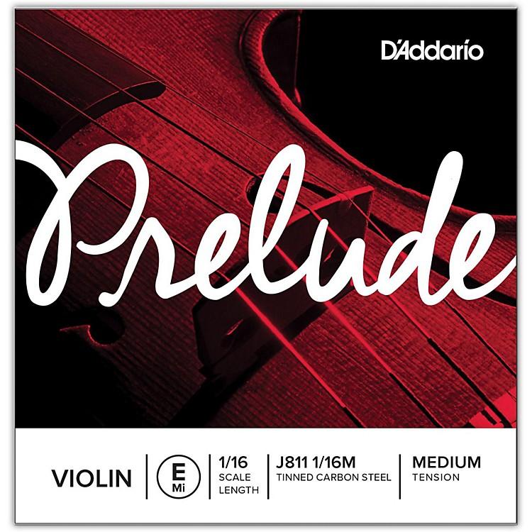 D'AddarioJ811 Prelude 1/16 Violin Single E String Plain SteelMedium