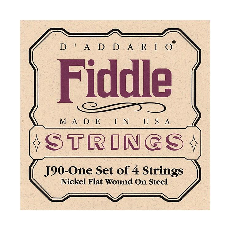 D'AddarioJ90 Fiddle 4/4 Size Chrome/Steel String Set