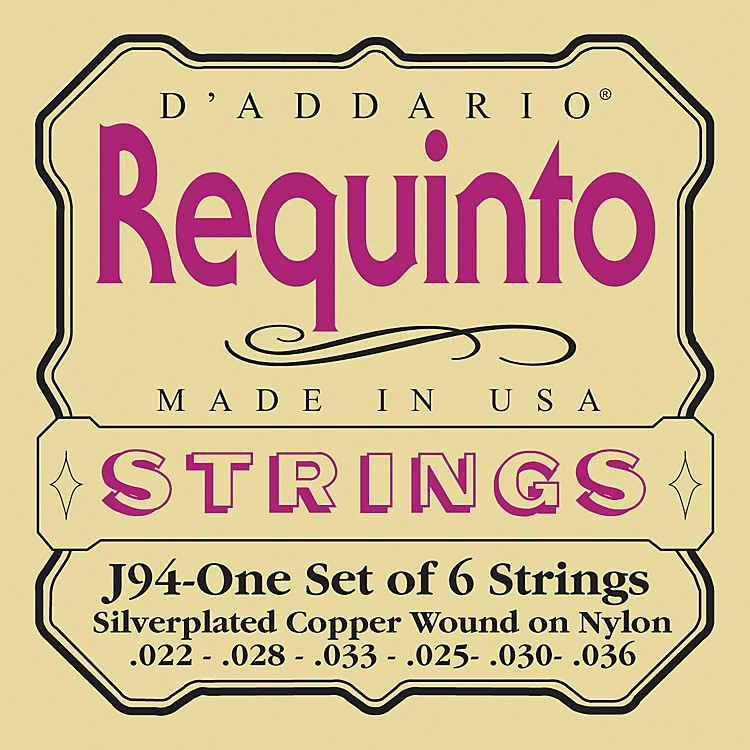 D'AddarioJ94 Silver-Plated Wound Requinto String Set