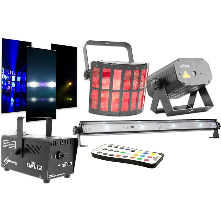 CHAUVET DJJAM Pack Gold Projection Lighting Effect with Fog Machine and UV Wash/Strobe