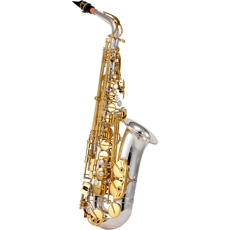 JupiterJAS1100SG Alto SaxophoneSilver Plated, Gold Lacquer Keys