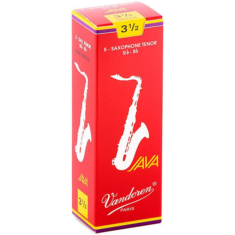 Vandoren JAVA Red Tenor Saxophone Reeds Strength 2, Box of 5