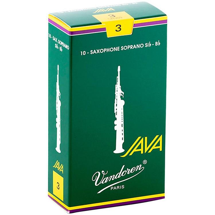 VandorenJAVA Soprano Saxophone ReedsStrength 2, Box of 10