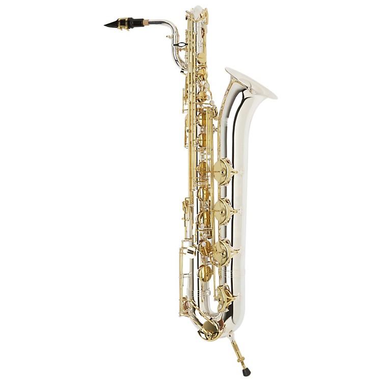JupiterJBS1100SG Intermediate Baritone SaxophoneSilver Plated Neck and Body