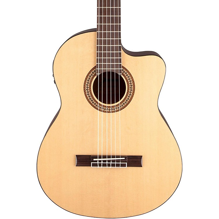 Jasmine JC-25CE Cutaway Classical Acoustic-Electric Guitar Natural