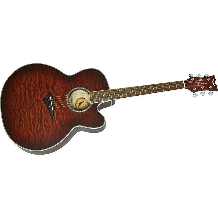dean jc qm tge jumbo cutaway acoustic electric guitar music123. Black Bedroom Furniture Sets. Home Design Ideas
