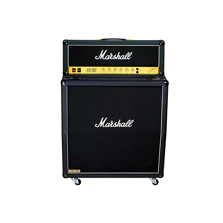 Marshall JCM800 2203 Vintage Series 100W Guitar Tube Head with 1960A 300W 4x12 Cabinet Angled