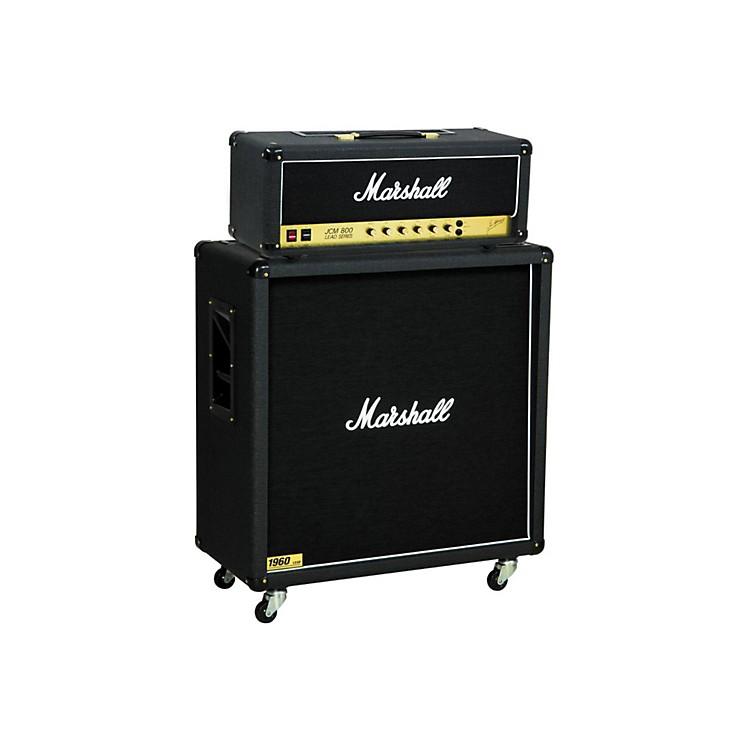 Marshall JCM800 2203 Vintage Series 100W Guitar Tube Head with 1960B 300W 4x12 Cabinet Straight