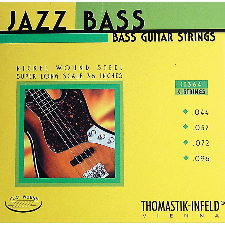Thomastik JF364 Flatwound Super Long Scale 4-String Jazz Bass Strings