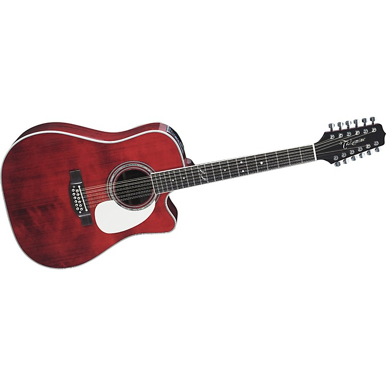 Takamine JJ325SRC12 John Jorgenson Signature 12-String Acoustic-Electric Guitar Gloss Red Stain