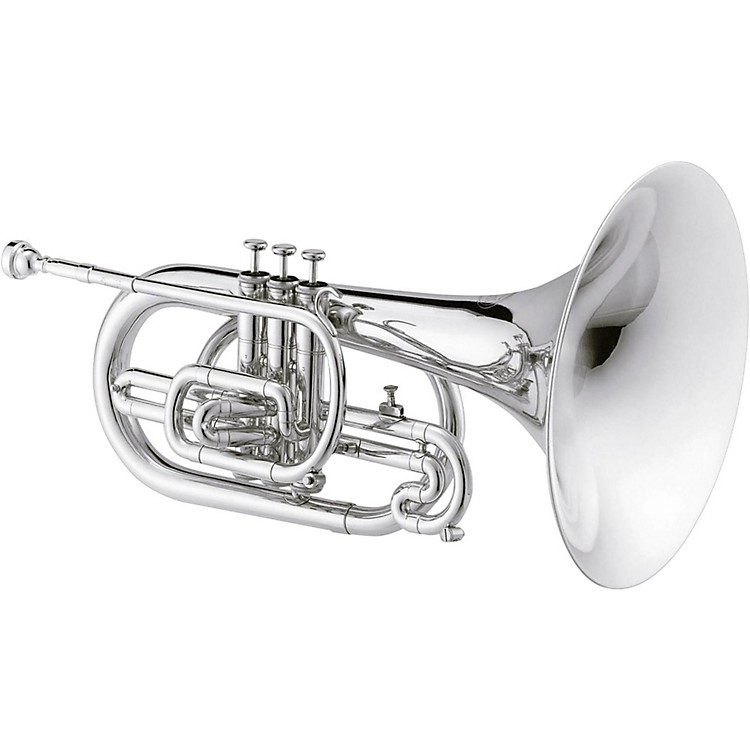 Jupiter JMP1000M Qualifier Series F Marching Mellophone Silver