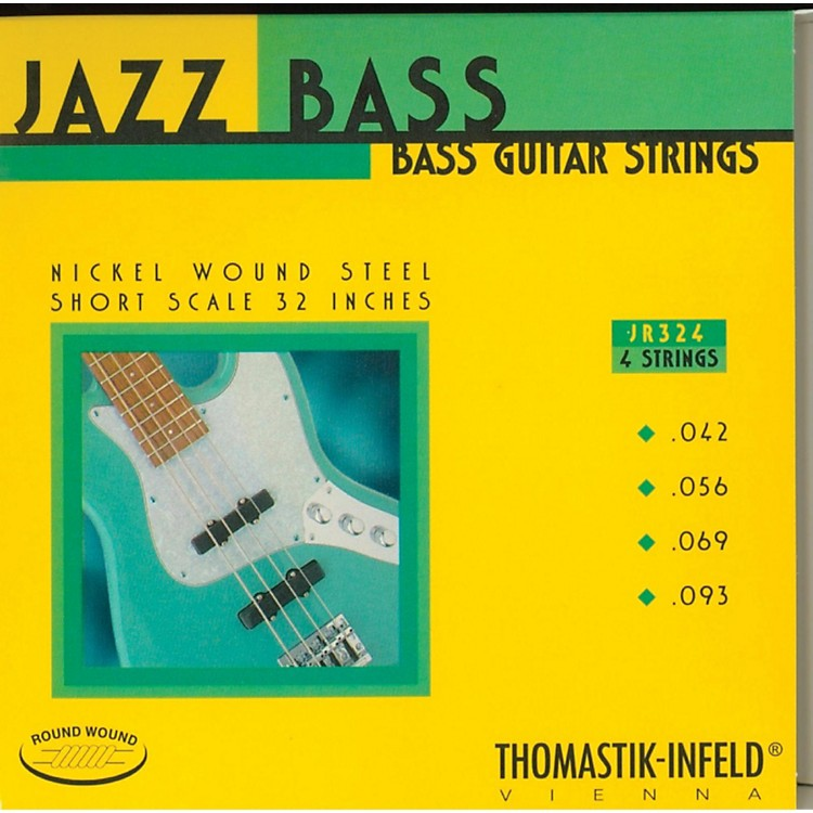 ThomastikJR324 Roundwound Jazz Series Short-Scale Electric Bass Strings
