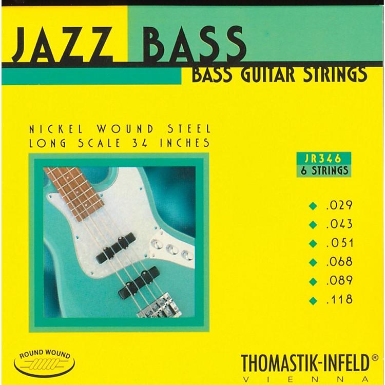 ThomastikJR346 Roundwound Scale 6-String Jazz Bass Strings