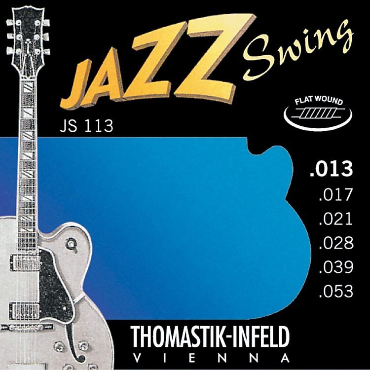 ThomastikJS113 Medium Flatwound Jazz Swing Electric Guitar Strings