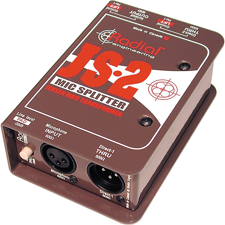 Radial Engineering JS2 Passive Microphone Splitter Direct Box