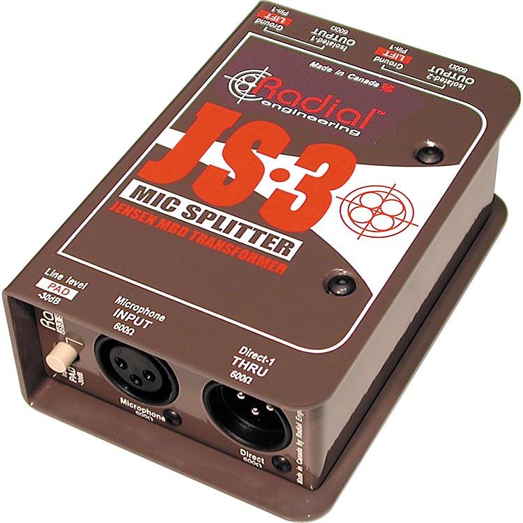 Radial EngineeringJS3 Passive Microphone Splitter Direct Box