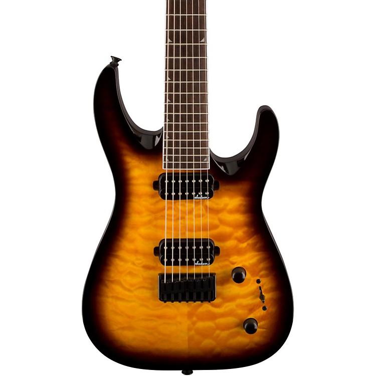 JacksonJS32-7 Dinky DKA QM 7-String Electric GuitarTobacco Burst