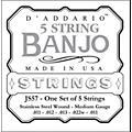 D'AddarioJS57 Stainless Steel Medium Banjo Strings-thumbnail