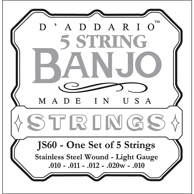 D'AddarioJS60 Stainless Steel Light Banjo Strings