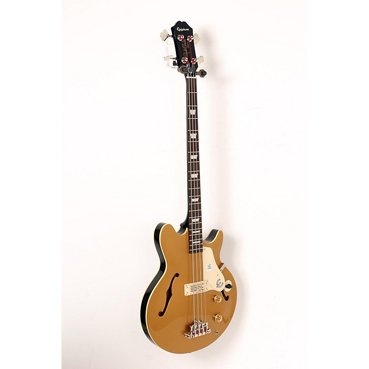 Epiphone Jack Casady Signature Bass Guitar Metallic Gold 888365911052