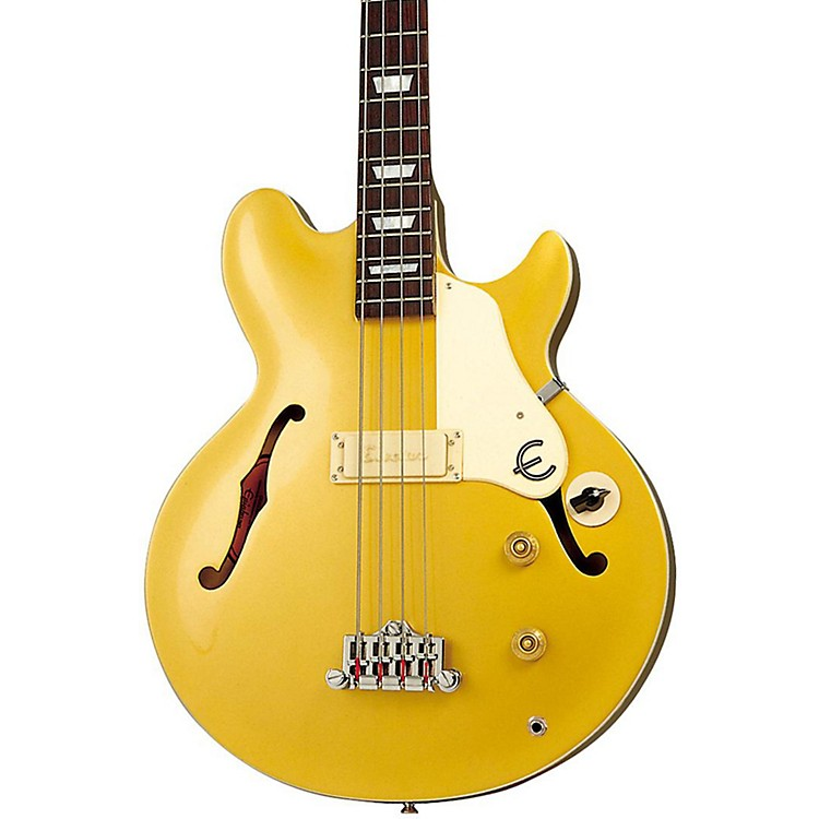 EpiphoneJack Casady Signature Bass GuitarMetallic Gold