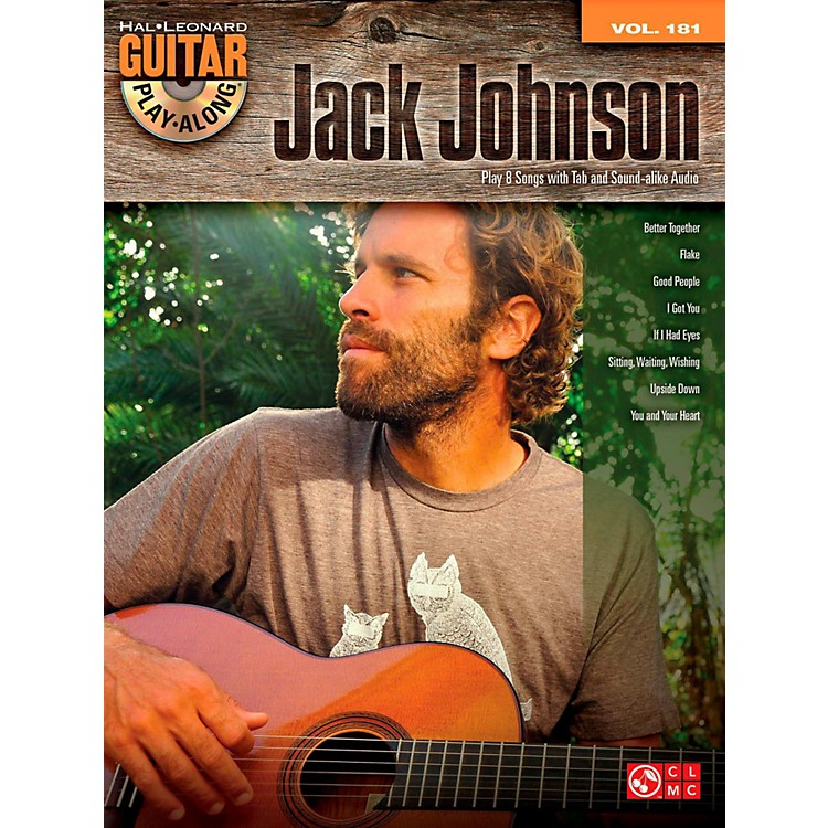 Cherry LaneJack Johnson - Guitar Play-Along Volume 181 Book/CD
