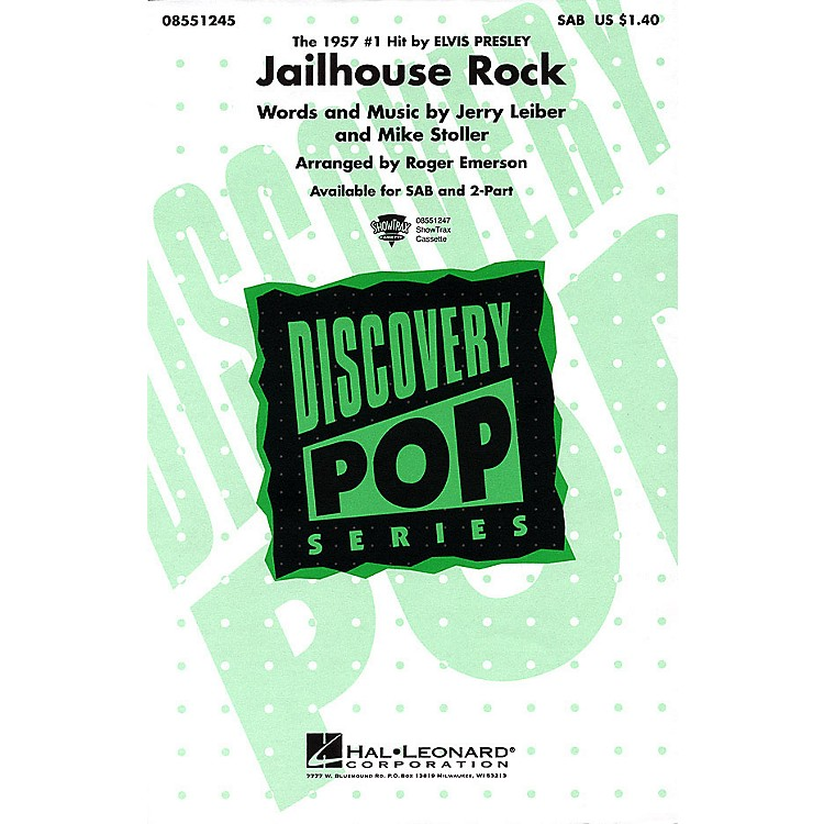 Hal Leonard Jailhouse Rock SAB by Elvis Presley arranged by Roger Emerson